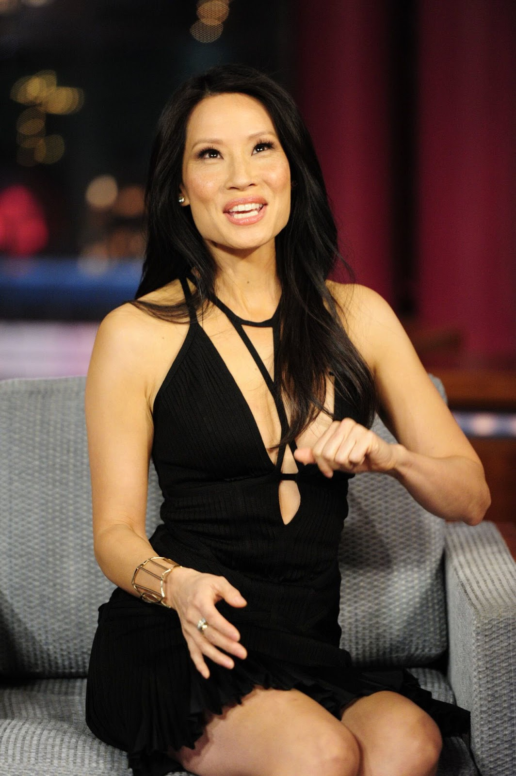Revealing And Exploring Meaning In The Tarot: Lucy Liu Hot Miniskirt Dress For Letterman Program In