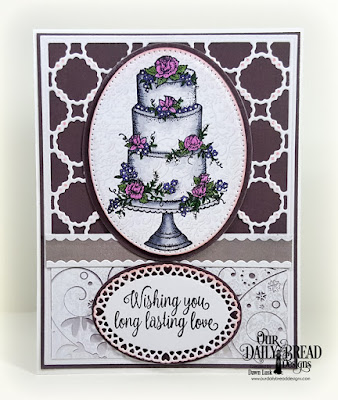 Our Daily Bread Designs Stamp Set: Long Lasting Love, Paper Collection: Wedding Wishes, Custom Dies: Scalloped Chain, Bitty Borders, Pierced Ovals, Ovals, Layered Lacey Ovals