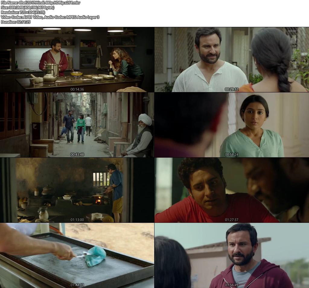 Chef 2017 Hindi 480p HDRip 400MB x264 Screenshot