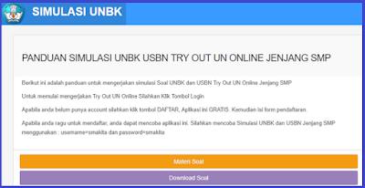 Kumpulan Soal dan Simulasi UNBK USBN SMP - UNBK 2018