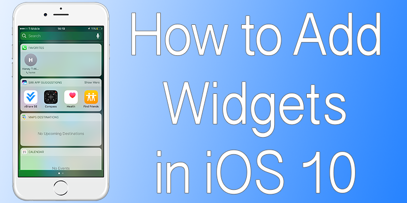 Add Widgets in iOS 10