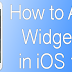 How to Add Widgets in iOS 10 To Today View