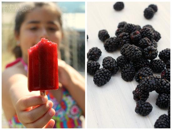 Blackberry Lavender Popsicles