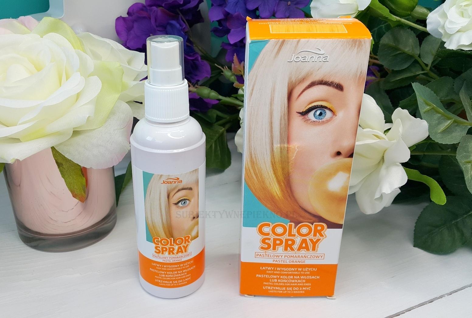 Joanna Color Spray - pastelowy pomarańczowy