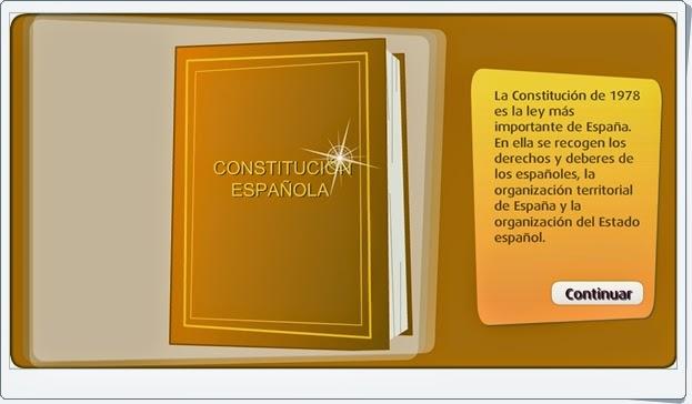 """""""El sistema político español"""" (Actividad interactiva de Primaria)"""