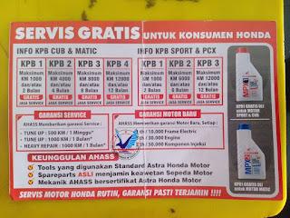 service gratis kpb honda