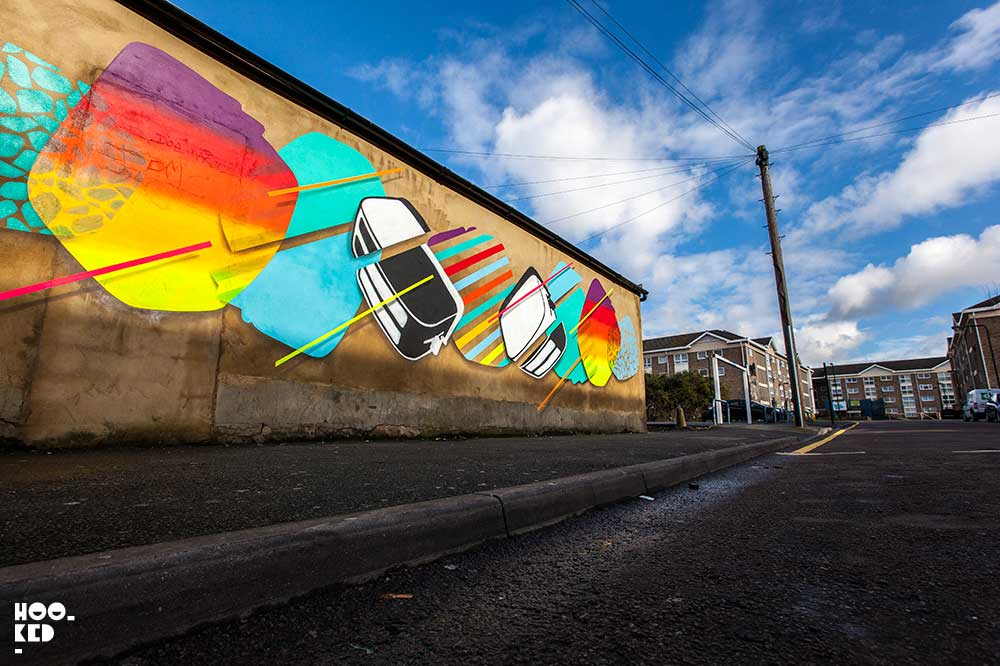 Street Art collective The Toasters Go Pop in E17 with a new vibrant mural.