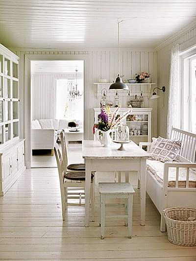 White Painted Hardwood Floors