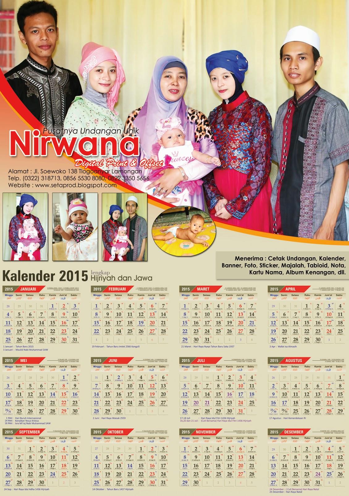 Nirwana Digital Print: Promo Kalender 2015 Harga Mulai Rp ...
