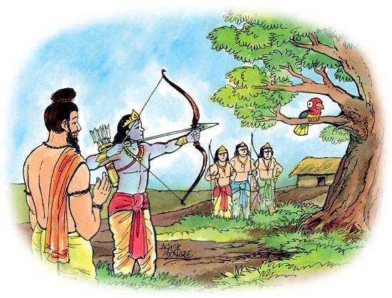 dronacharya guru of arjuna,guru of arjuna and pandvas