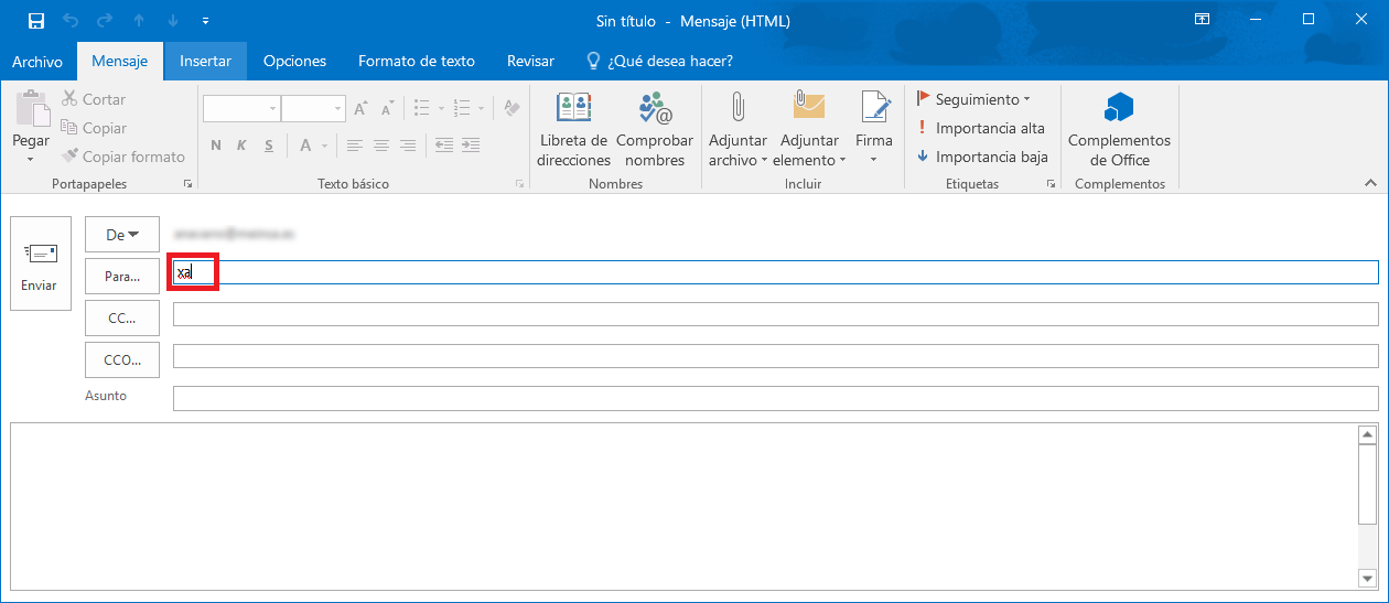 how to create an alias in outlook 2016