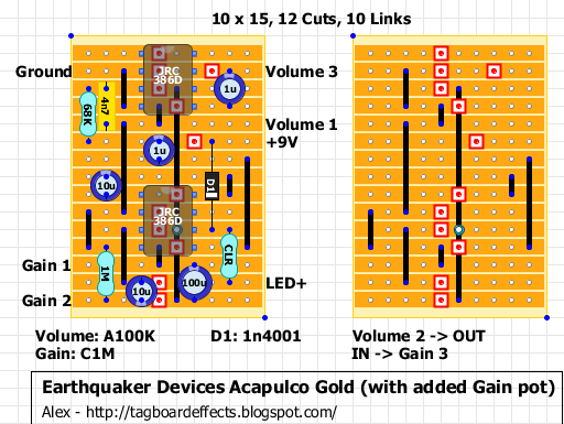 guitar fx layouts earthquaker devices acapulco gold. Black Bedroom Furniture Sets. Home Design Ideas