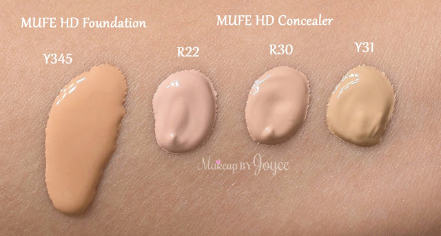 Makeup Forever Ultra HD Concealer R22 R30 Y31 Swatches