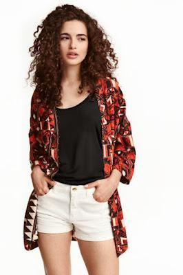wzorzysta etniczna marynarka H&M letnia wyprzedaż co kupić na wyprzedaży 2016 blog modowy