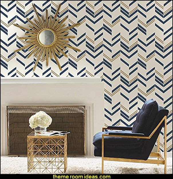 Chevron Stripe Peel and Stick Wallpaper  zig zag bedroom decorating ideas - Zig Zag wall decals - Chevron bedroom decorating ideas - zig zag wallpaper mural - zig zag decor - Chevron ZIG ZAG print - Herringbone Stencil - chevron bedding - zig zag rugs - Zigzag Bedding  -  Chevron Themed Comforter