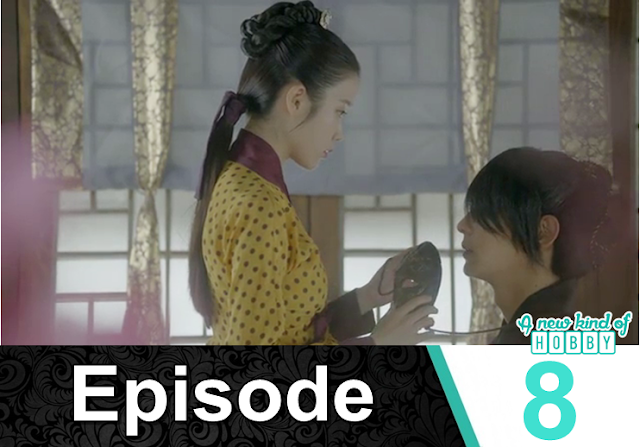 hae Soo remove 4th Prince mask - Moon Lover Scarlet Heart Ryeo - Episode 8 - Review
