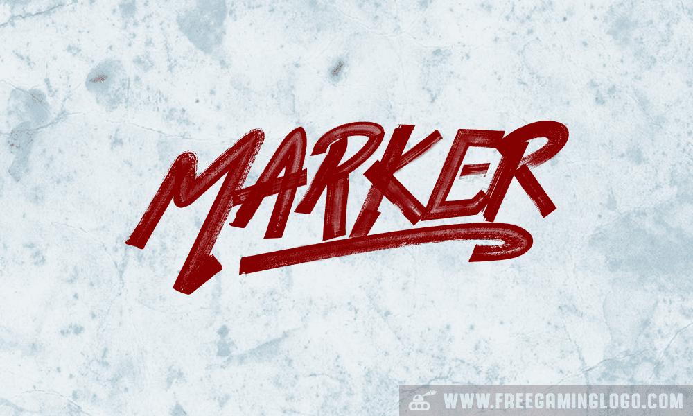 Marker hand lettering signature design