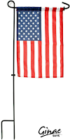 Sturdy Metal Flag Stand and American Flag by GreenWe