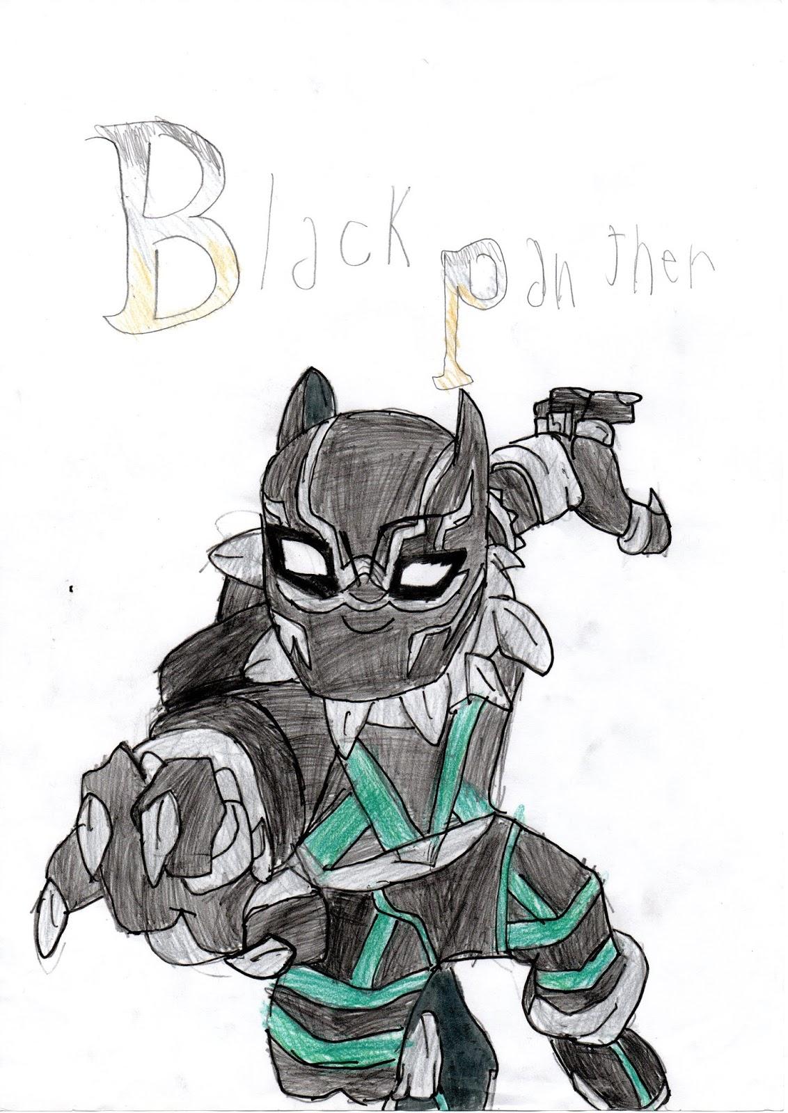 Desenhos Joinha Pantera Negra