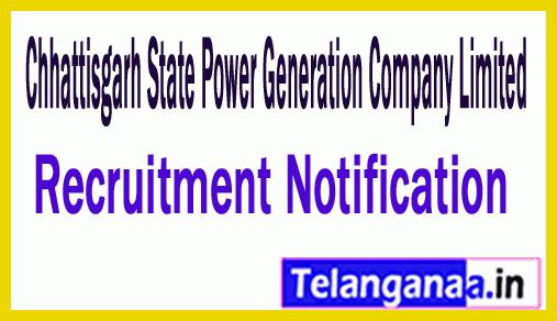 Chhattisgarh State Power Generation Company Limited CSPGCL Recruitment Notification