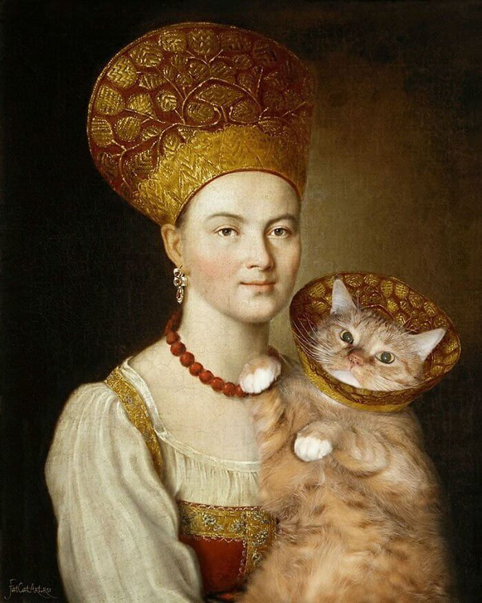 10+ Fat Cat Art: I Insert My Ginger Cat Into Famous Paintings