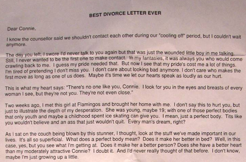 best divorce letter ever awesome quotes best divorce letter awesome quotes 36425