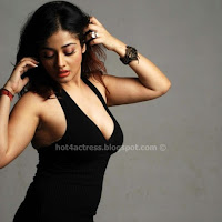 Kiran rathod hot  in black dress