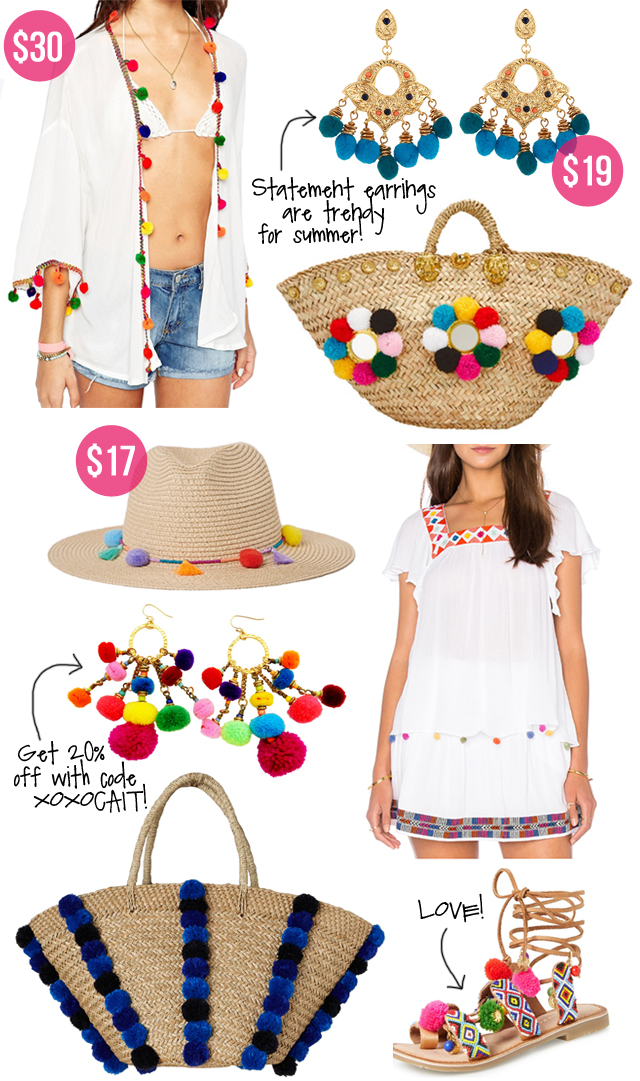 pom pom trend for summer