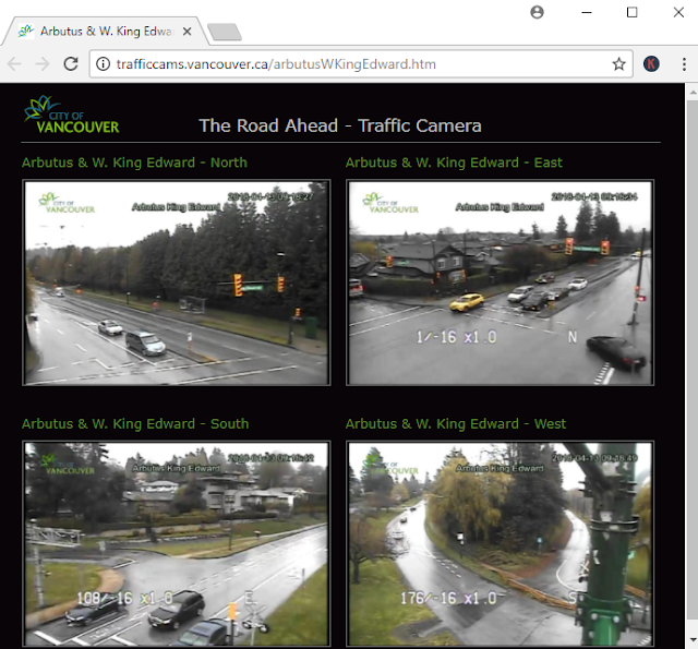 Traffic camera view in web browser