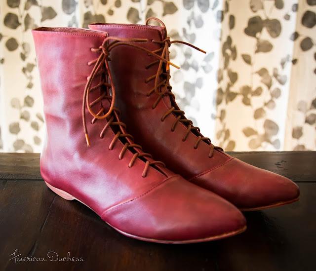 Red Regency Boots