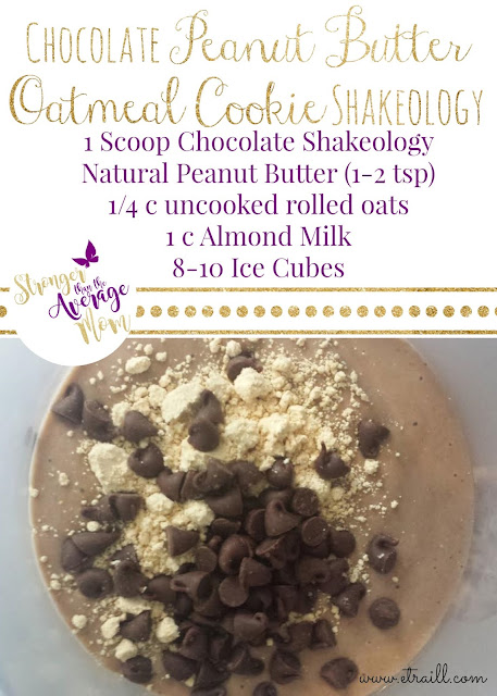 Erin Traill, Diamond Beachbody Coach, shakeology recipe, chocolate peanut butter oatmeal cookie, peanut butter, pb2, superfoods, fit mom, weight loss, pittsburgh