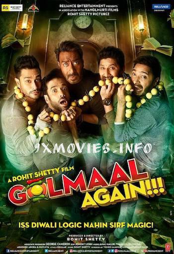 Golmaal Again 2017 Hindi 720p DVDRip 1.1GB