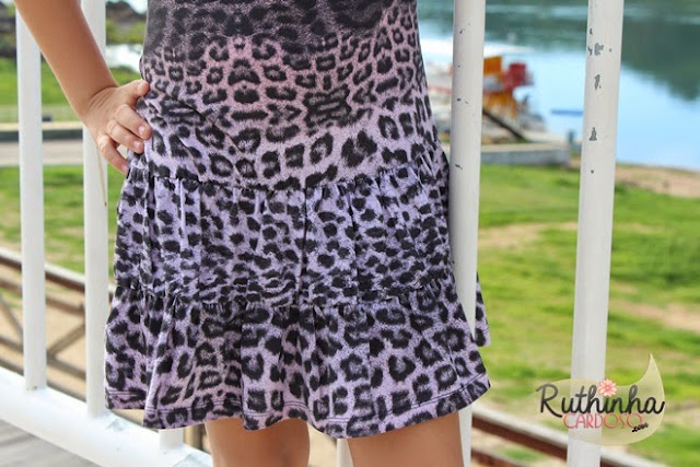 vestido de menina infantil onça onçinha paetê dress dresses passarela