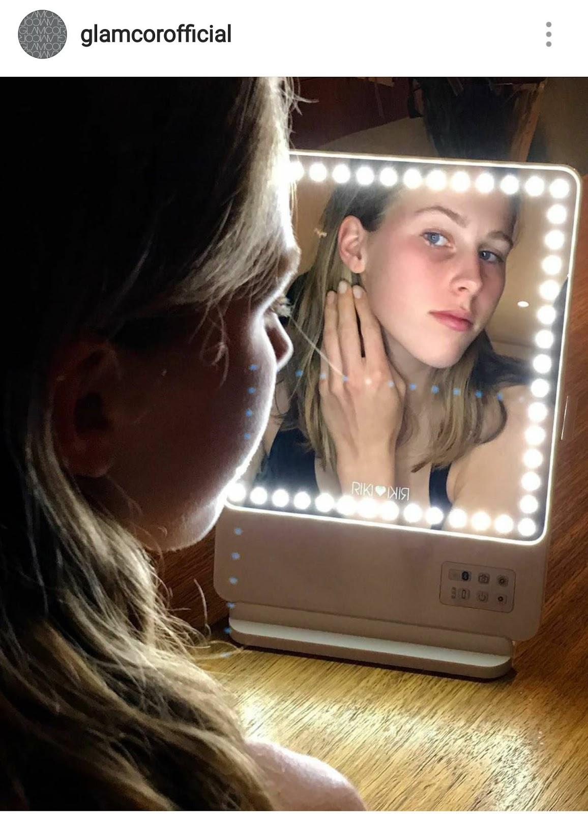 Glamcor Riki Skinny Mirror With Limelight The Glam Mom