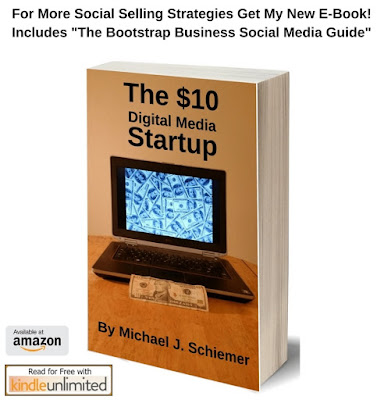 social media marketing startup selling ebook