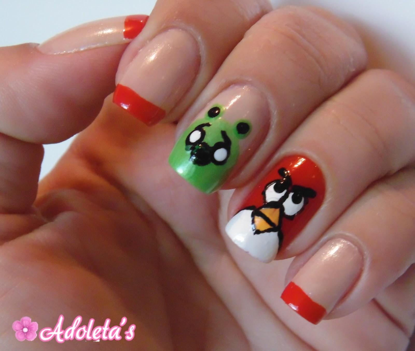 Adoleta's: Angry Birds Nails
