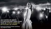 Promoção Citi Débito Mastercard em Cannes no tapete vermelho