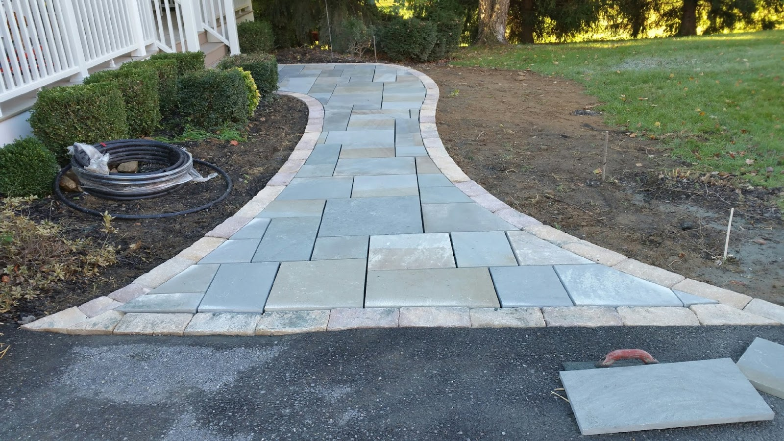 custom stoneworks design inc flagstone walkway in ellicott city md