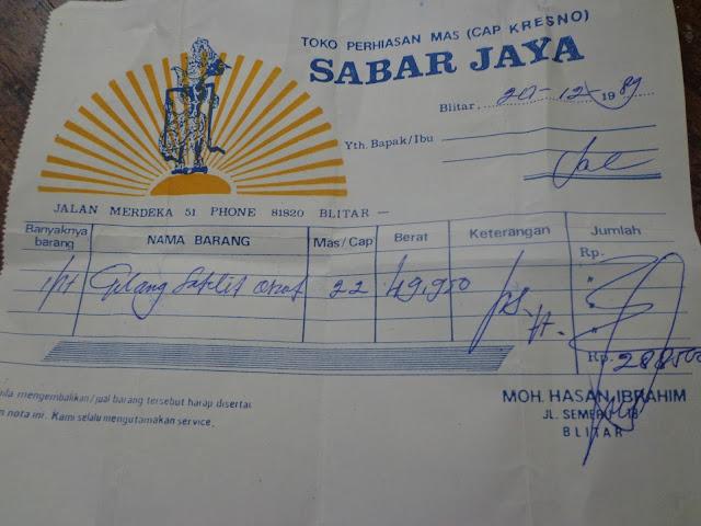 Sabar Jaya Emas Perhiasan Online Surat Emas Sabar Jaya