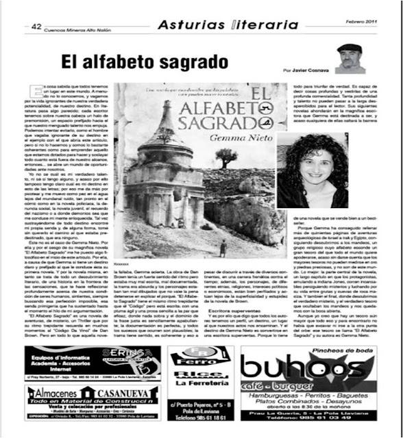 diario-asturias-reseña-gemma-nieto-alfabeto-sagrado