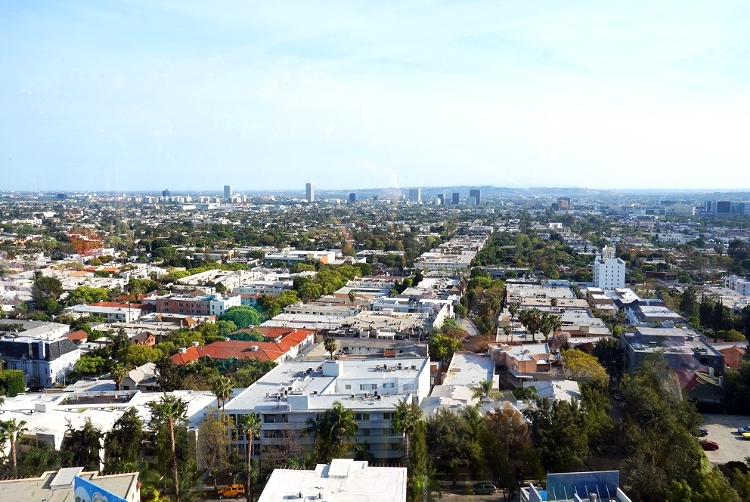 Euriental || fashion & luxury travel || Andaz, West Hollywood, L,A, view from rooftop pool
