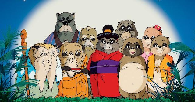 Película Pompoko de Studio Ghibli, dirigida por Isao Takahata en el año 1994