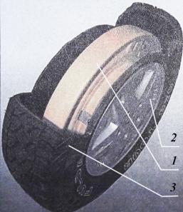Загальний вигляд шини зі вставкою системи RODGARD