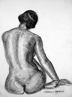 Siluetas de Mujeres Elaboradas con Lapiz Dibujos