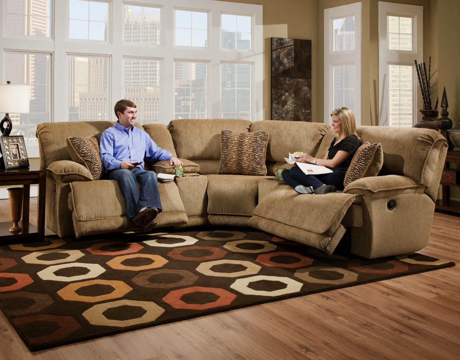 parker 2 piece sofa and loveseat in brown bobkona seattle microfiber set saddle color the best reclining sofas ratings reviews: barton 6-pc ...