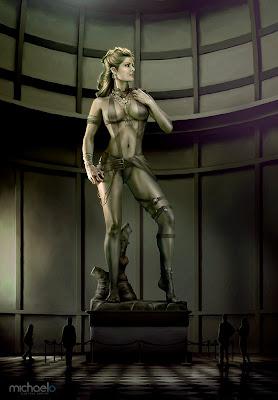 Escultura con cuerpo perfecto