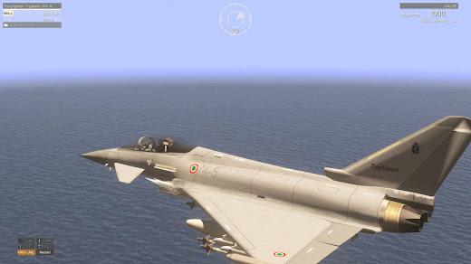 Arma3用イタリア軍MODのEuroFighter Typhoon戦闘機