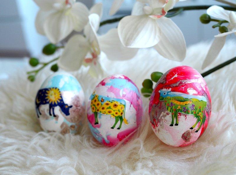 vesimarmorointi pääsiäismuna koristelu