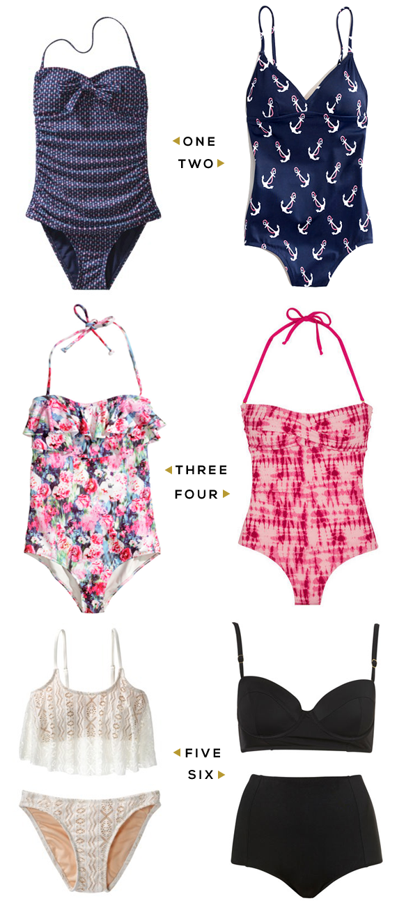 Six Sensational Swimsuits (That Won't Break the Bank)