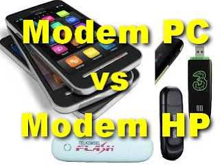 modem pc dan modem hp